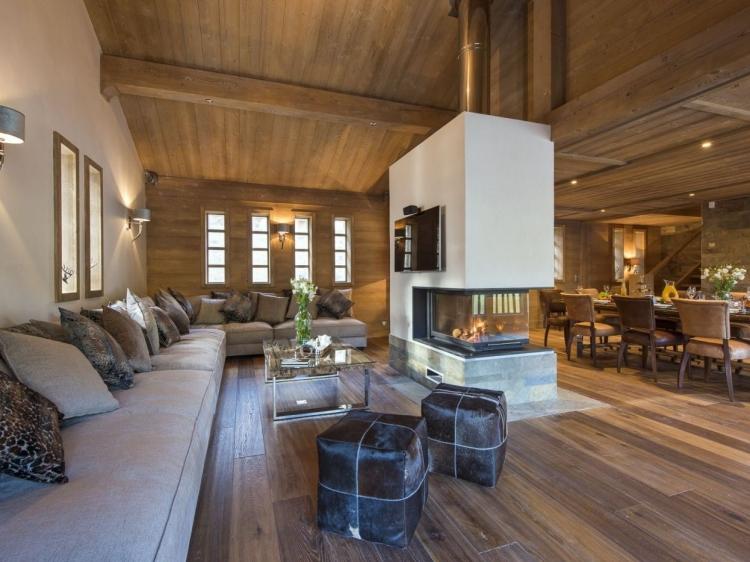 Wohnen im Chalet Ambre Ferienvilla Ski Frankreich Luxushaus Luxus Apartment boutique hotel besonders luxuriös aussergewöhnlich trendig chic cool klein