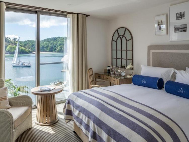 Wohnen im Salcombe Harbour Hotel & Spa  Salcombe Süd Devon boutique hotel besonders luxuriös aussergewöhnlich trendig chic cool klein