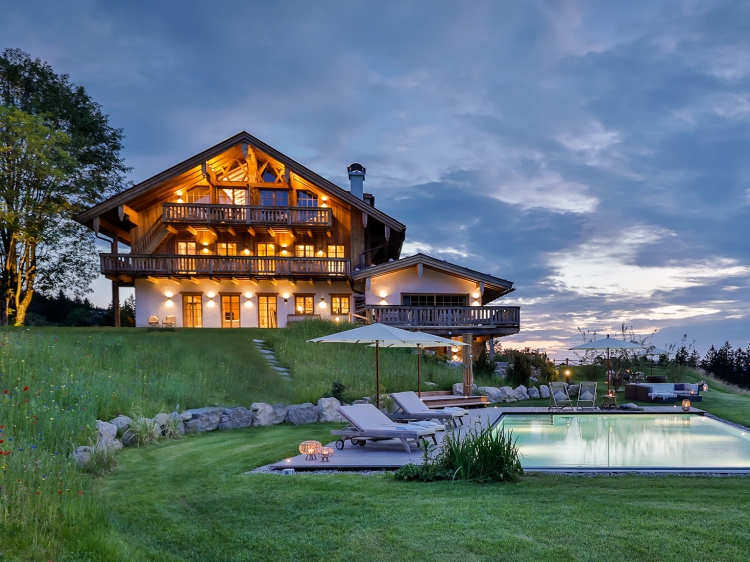 "Chiemsee Chalet - Hideaway located between alpin forrest and the ""Bavarian Sea"" 800 meters above sea level."