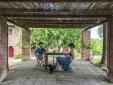 Pergolas for outdoor eating. (Doderi Alto)