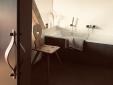 Badezimmer mit Panoramafenster in der Stube Wipfelglück