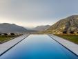 Wohnen im  Arua Private Spa Villas Tirolo Meran aussicht infinity pool berge